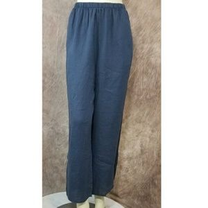 Flax Designs Linen Cropped Wide Leg Flood Pants